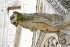Gargoyle en Poitiers, Francia Foto de archivo libre de regalías