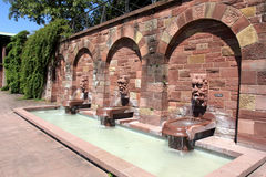 Gargoyle fontanne στο Ασάφενμπουργκ, Γερμανία Στοκ Εικόνες