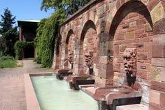 Gargoyle fontanne στο Ασάφενμπουργκ, Γερμανία Στοκ Εικόνα
