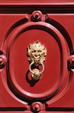 Gargoyle head door knocker stock images