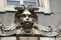 Gargoyle Head - Palazzo Tursi Genova Stock Photography