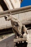 Gargoyle i Sacren Coeur, Montmarte, Paris Arkivbilder