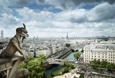 Gargoyle na catedral de Notre Dame, Paris Fotografia de Stock