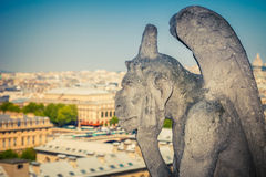 Gargoyle on Notre Dame Cathedral Stock Photography