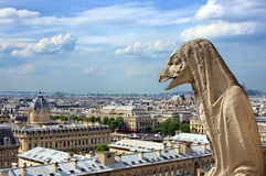 Gargoyle on Notre Dame Cathedral, Paris Royalty Free Stock Photo