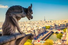 Gargoyle on Notre Dame Cathedral Stock Image