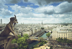 Gargoyle on Notre Dame Cathedral, Paris Stock Photography