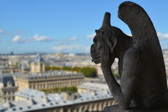 Gargoyle of Notre Dame de Paris Stock Images