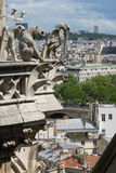 Gargoyle at Notre Dame de Paris. France Stock Photo
