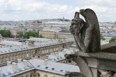 Gargoyle at Notre Dame de Paris Stock Photo