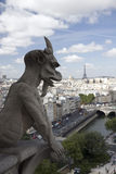 Gargoyle at Notre Dame in Paris Stock Photo