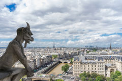 Gargoyle at Notre Dame de Paris Royalty Free Stock Photos