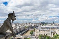 Gargoyle at Notre Dame de Paris. France Royalty Free Stock Photos