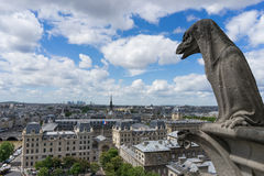 Gargoyle at Notre Dame de Paris Stock Image