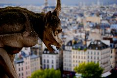 The gargoyle of Notre Dame Royalty Free Stock Images