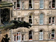 Gargoyle over Edinburgh royalty free stock image