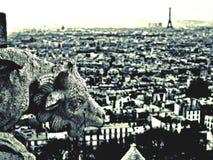 Gargoyle a Parigi fotografia stock libera da diritti