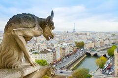 Gargoyle of  Paris Stock Images