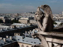 gargoyle paris royaltyfria foton
