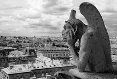 gargoyle paris s Fotografering för Bildbyråer
