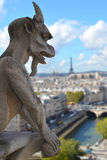 Gargoyle on the roof of Notre-Dame Stock Photos