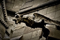 Gargoyle on Sacre Coeur Basilica Stock Photo