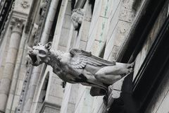 Gargoyle at Sacre Coeur Cathedral, Paris, France Royalty Free Stock Photography