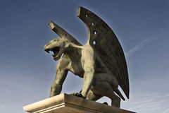 Gargoyle side Royalty Free Stock Photography