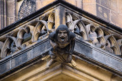 Gargoyle of St. Vitus Cathedral in Prague, Czech Republic Royalty Free Stock Image