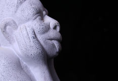 Gargoyle Statue. Gargoyle on Black Background stock image