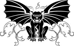 Gargoyle stencil decoration Stock Photography