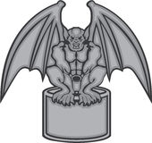 Gargoyle vector. Illustrations clip-art vector Stock Image