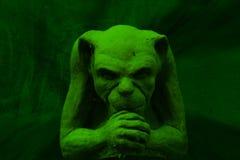 Gargoyle verde imagem de stock royalty free