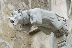 Gargoyle at the wall of the  Basilique Saint-Nazaire-et-Saint-Celse in Carcassonne, France. Royalty Free Stock Photo