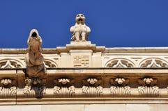 Gargoyles στο παλάτι του Αρχιεπισκόπου, Alcala de Henares, Μαδρίτη Στοκ Εικόνες