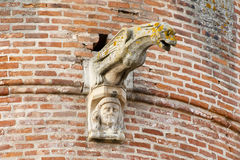 Gargoyles on Albi Cathedral - Albi - France. Gargoyles on Albi Cathedral - France Stock Photo