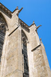 Gargoyles and buttresses. Of Saint Nazaire's Basilica in the Cite of Carcassonne Stock Images