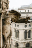 The gargoyles of the cathedral the Duomo. Royalty Free Stock Photo