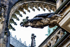 Gargoyles on the Cathedral of St. Vitus in Prague royalty free stock photography