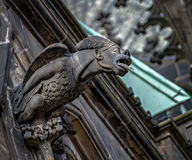 Gargoyles on the Cathedral of St. Vitus in Prague. stock photography