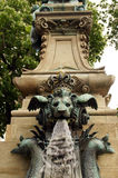 Gargoyles on Ceres fountain Stuttgart Royalty Free Stock Photos