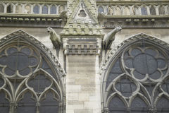 Gargoyles on the exterior of the Notre Dame Cathedral, Paris, France Royalty Free Stock Photos