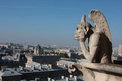 The Gargoyles of Notre Dame Stock Photography