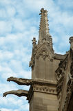 The gargoyles of Notre Dame Cathedral,  Paris . Royalty Free Stock Photography