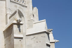 Gargoyles of Notre Dame des Anges - Church of L`Isle-sur-la-Sorgue in Provence, France. Gargoyles of Notre Dame des Anges - Church of L`Isle-sur-la-Sorgue Stock Photos