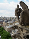 Gargoyles Overlooking Paris Royalty Free Stock Images