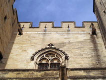 Gargoyles protecting The Popes' Palace in Avignon Stock Photo