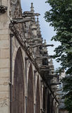 Gargoyles Saint Severin Church Paris Stock Photo