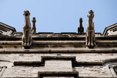 Gargoyles on St Michael Church - Ghent - Belgium Royalty Free Stock Photography