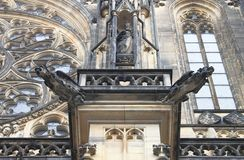 Gargoyles in St. Vitus Cathedral, Prague Royalty Free Stock Photography